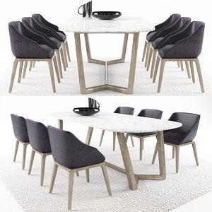 3D dinning table 8 model