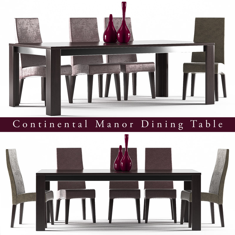 3D model dinning table 10