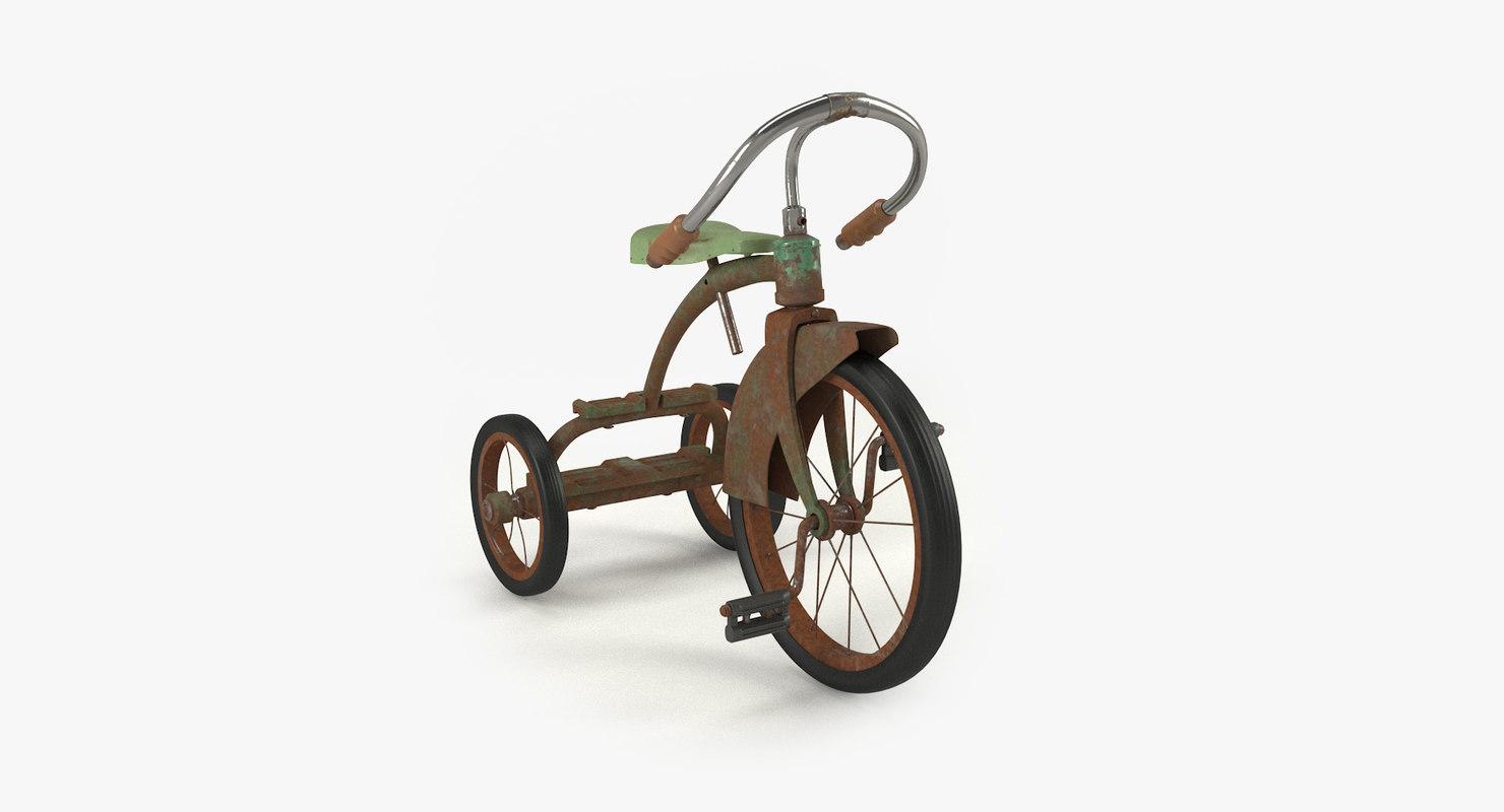 vintage child bicycle model
