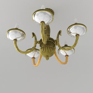3D model rococo chandelier