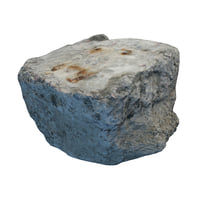 3D concrete block model