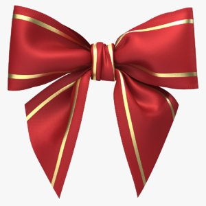 realistic gift bow model