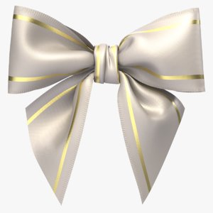 3D model realistic gift bow