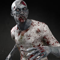 rigged zombie real-time 3D model