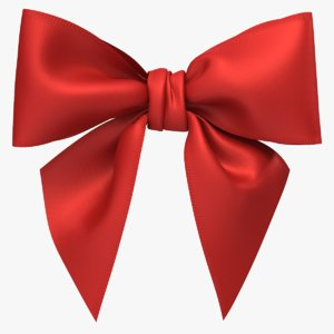 3D realistic gift bow