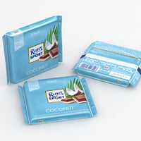 3D ritter sport coconut model