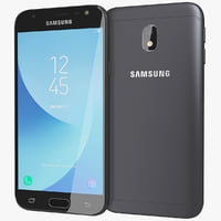 realistic samsung galaxy j3 3D model