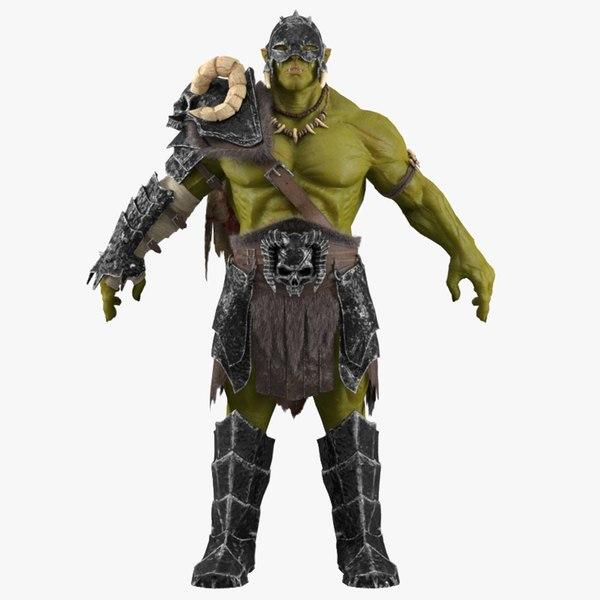 3D orc armor model