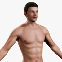 3D realistic male body human