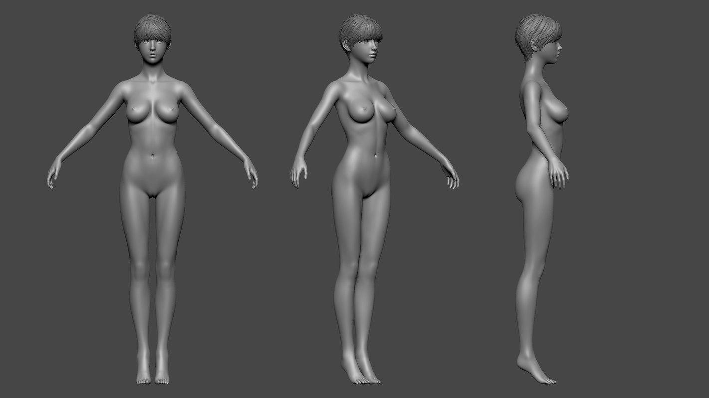 3D female basemesh