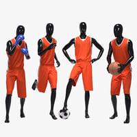 set male sport 3D model