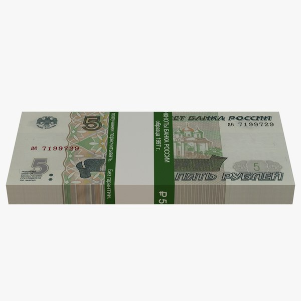 bank russian roubles banknotes 3D