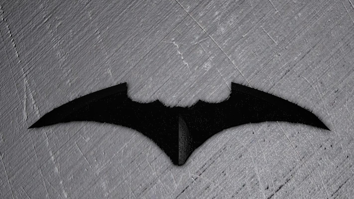 low-poly bat-shuriken 3D model