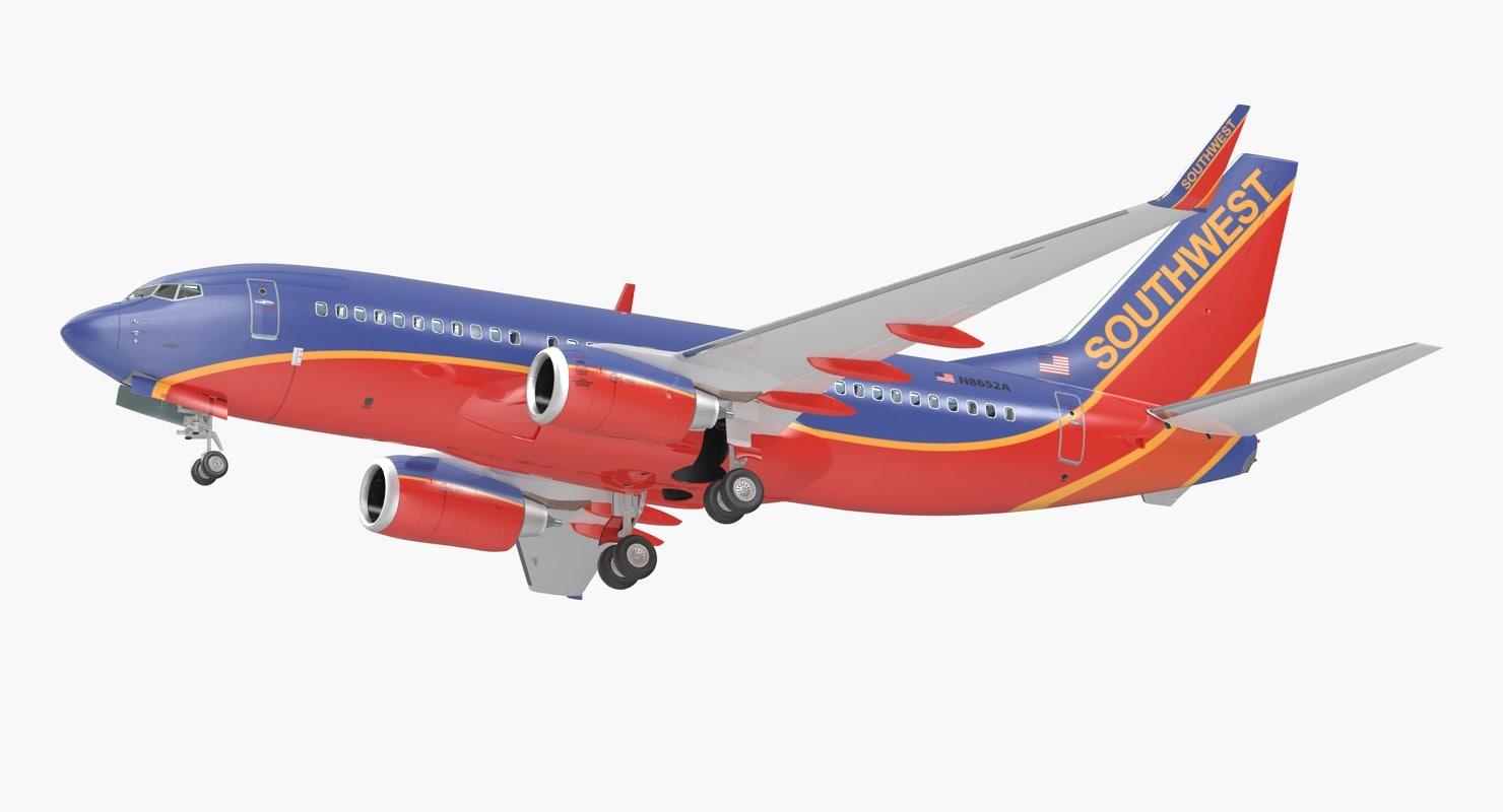 boeing 737-700 interior southwest 3D model