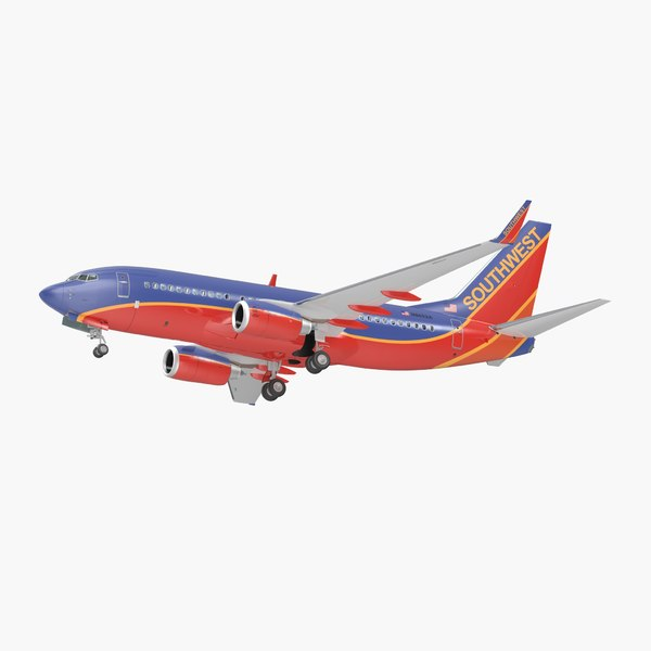 boeing 737-700 interior southwest 3D model
