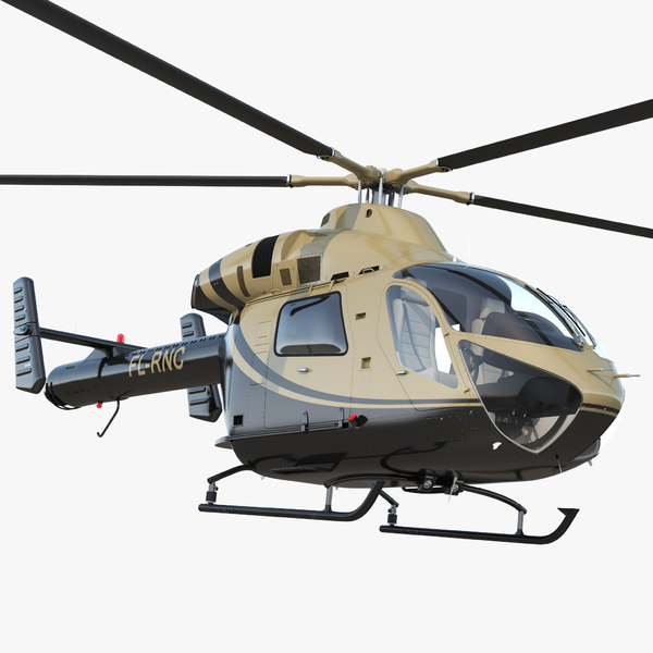 light private jet helicopter 3D