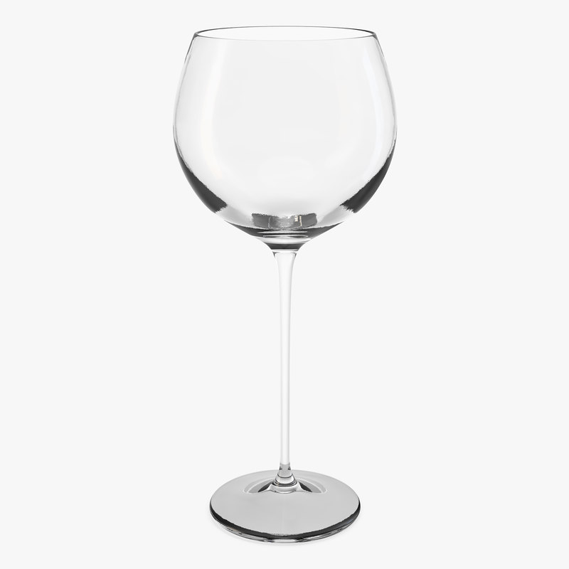 balloon wine glass 3D model