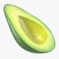 avocado half 3D model