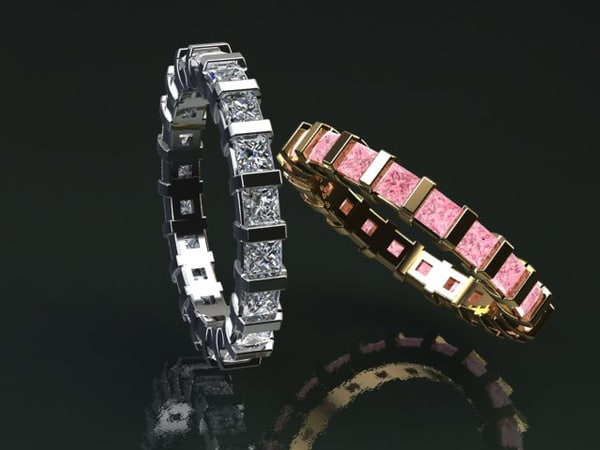 3D eternity bands