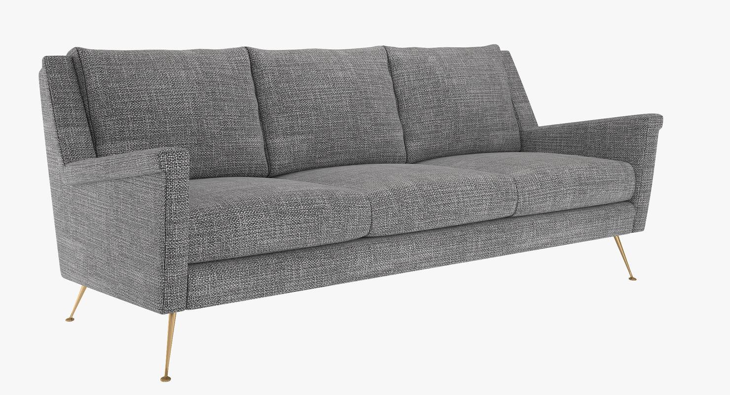 sofa carlo mid-century 3D model