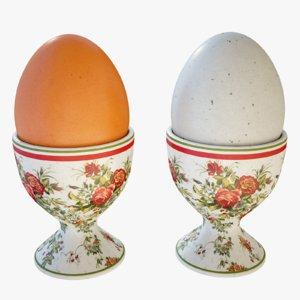 3D egg cup model