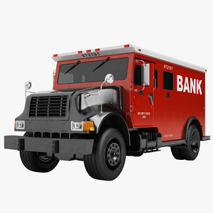 3D model bank armored truck