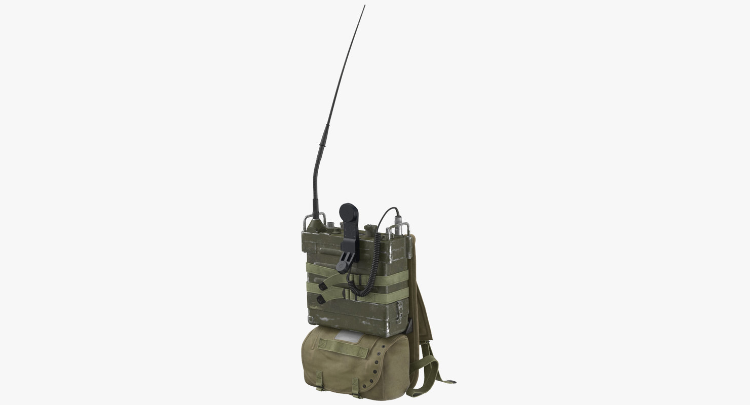 The PRC-25 Radio and Pack Resting