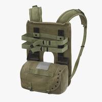 prc radio pack worn 3D model