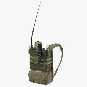 3D prc radio pack worn