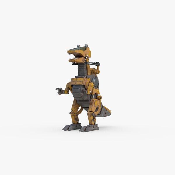 sci fi dinorobot model