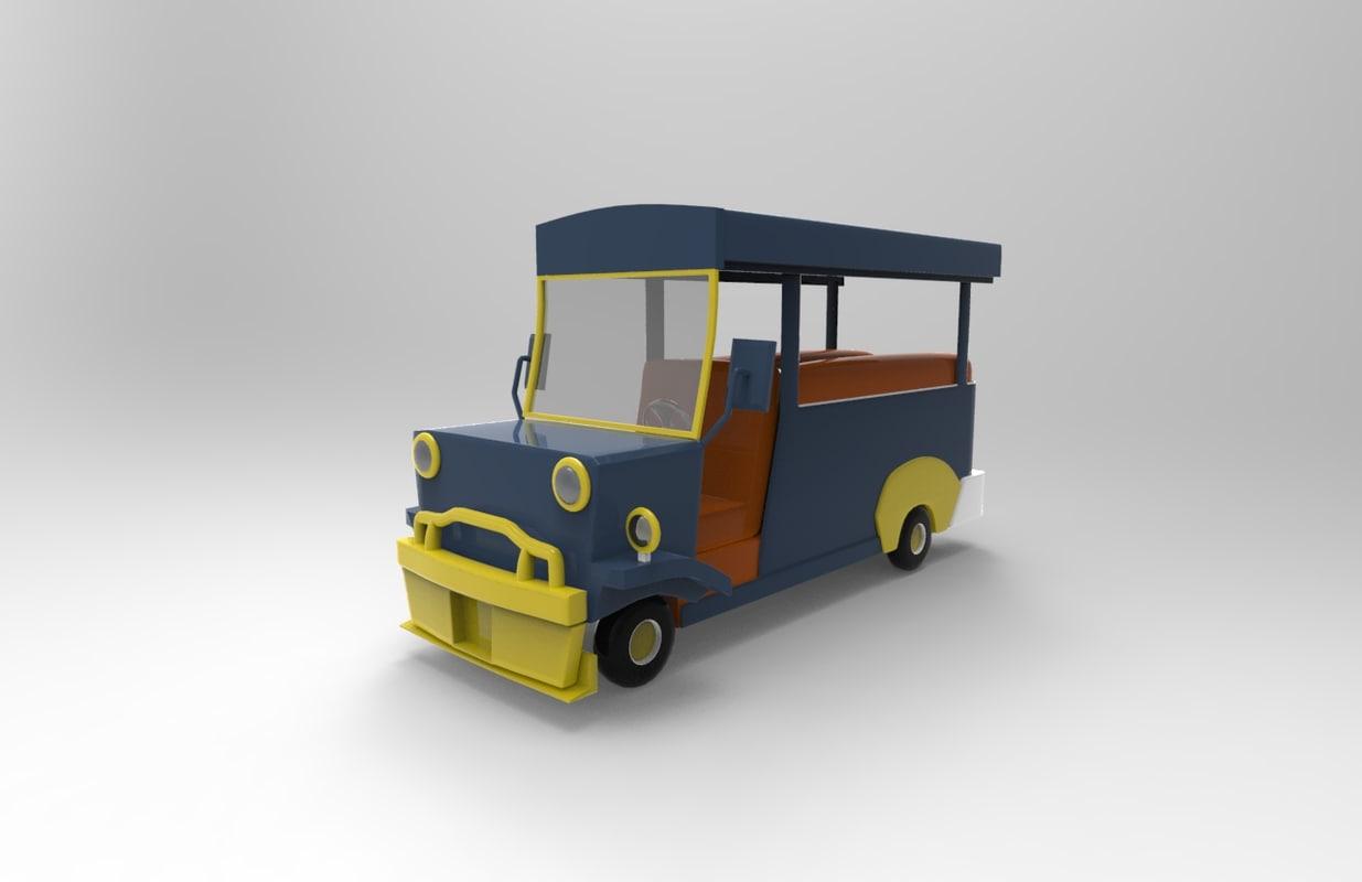 3D model philippine jeepney