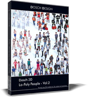 Dosch 3D - LoPoly People Vol 2