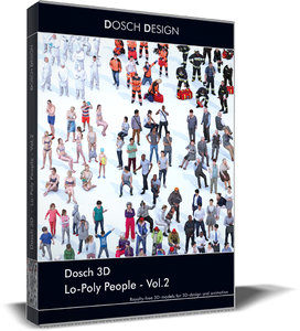 3D model lo-poly people vol 2