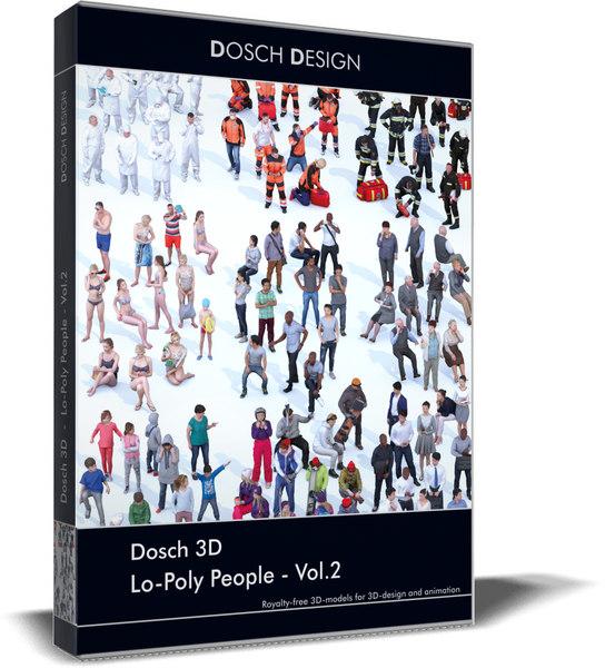 3D model lo-poly people vol 2