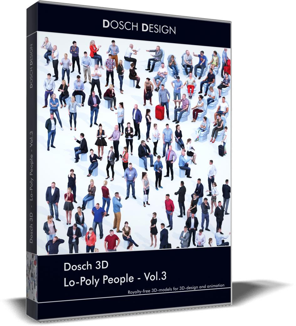 3D lo-poly people vol 3 model