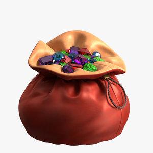 3D pouch gems model