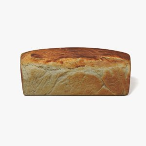 3D model loaf bread