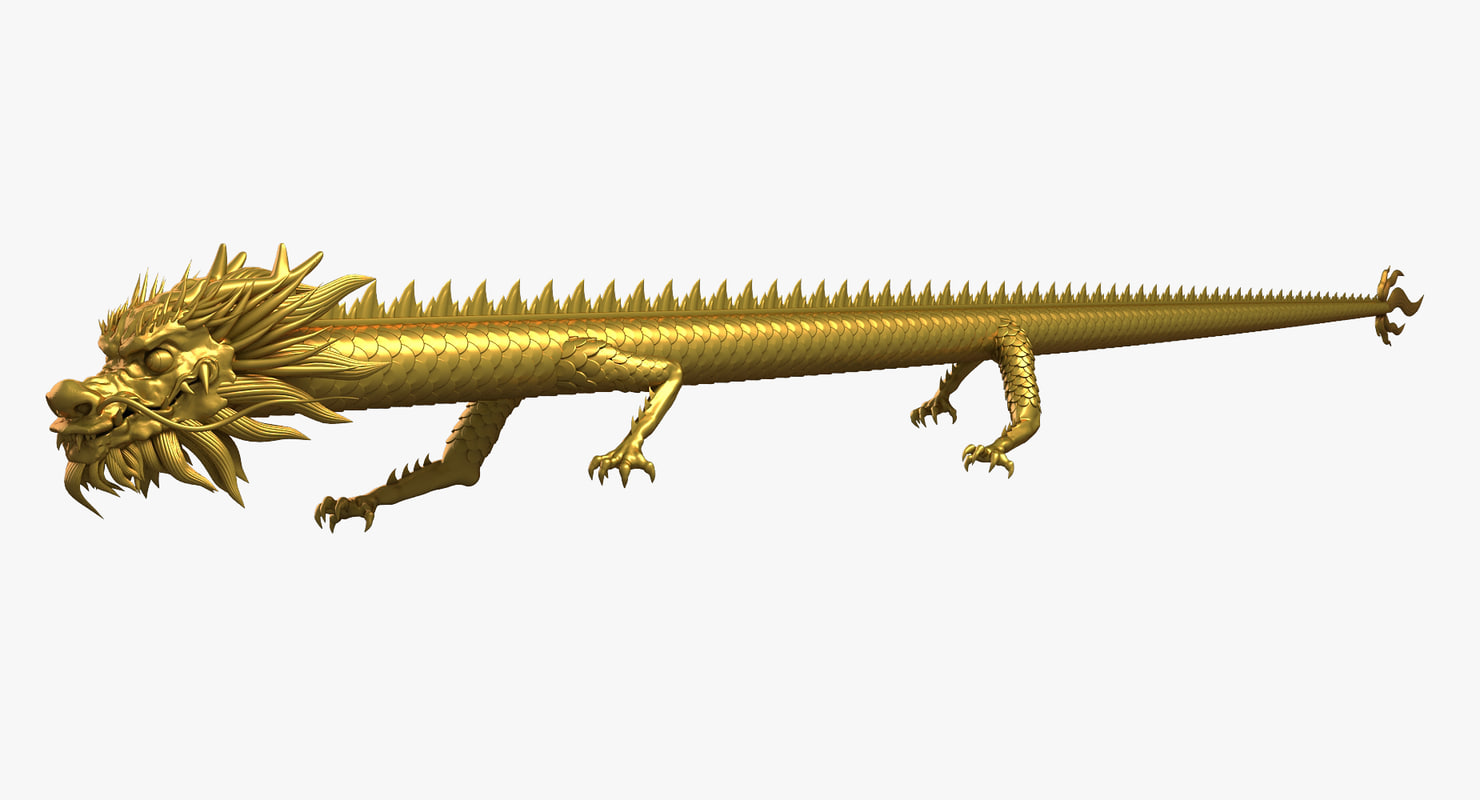 ancient dragon chinese 3D model
