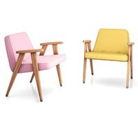 3D 366 arm armchair