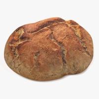 3D loaf bread