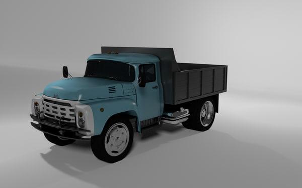 trucks zil 3D model