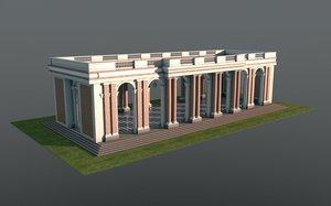 grand trianon colonnade versailles 3D model