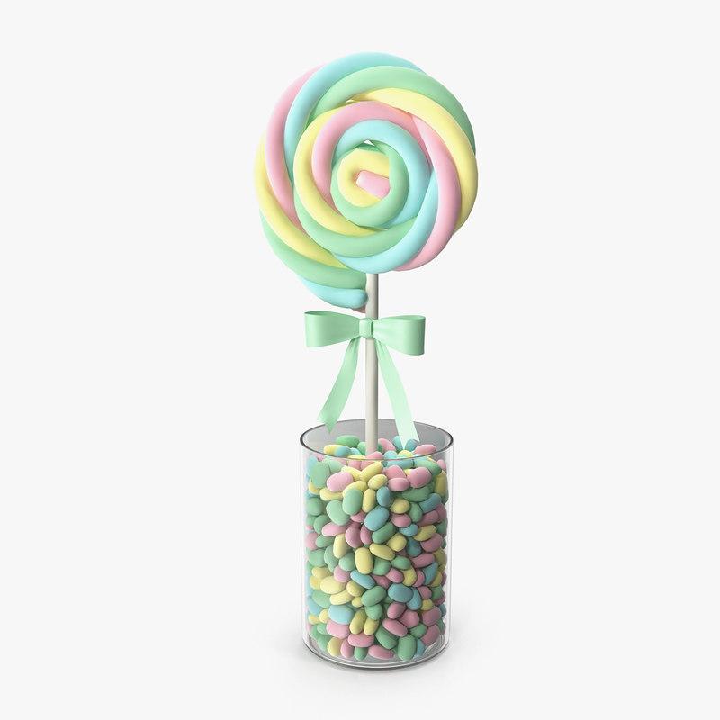 3D swirly lollipop