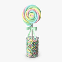 3D swirly lollipop