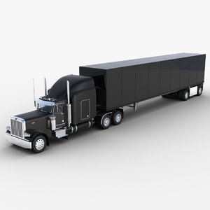 53ft dry van semi-trailer 3D model