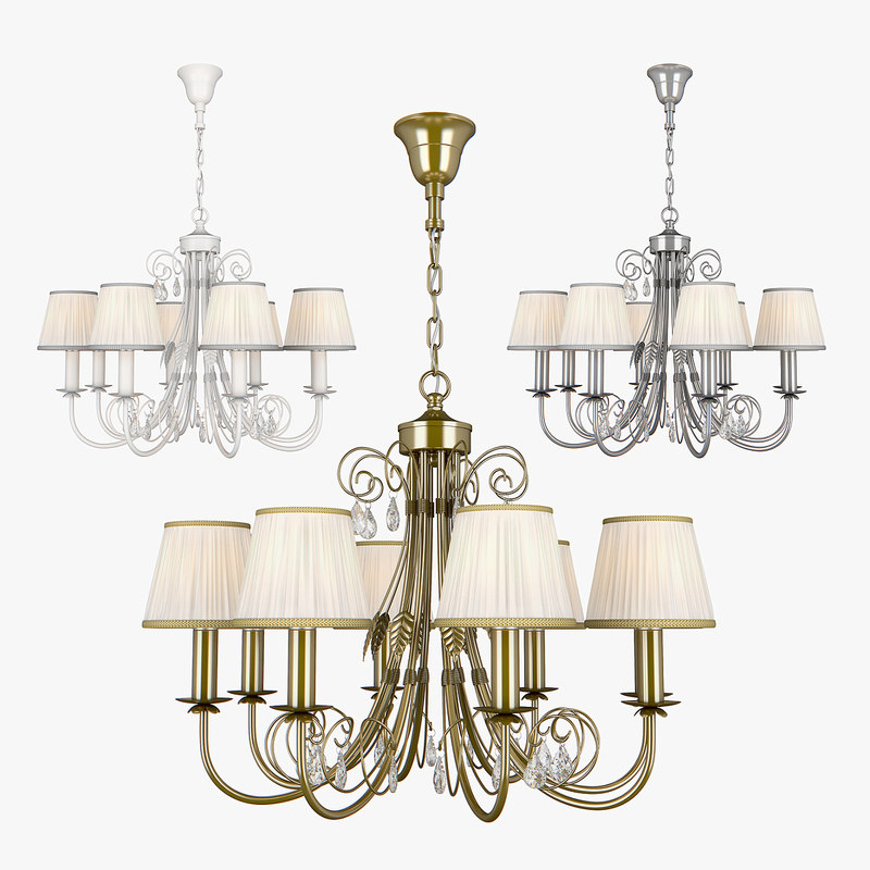 chandelier modesto lightstar 781080 3D model