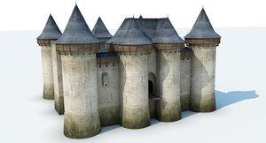 3D castle medieval model