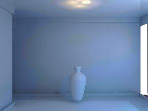 3D vase ceramic white