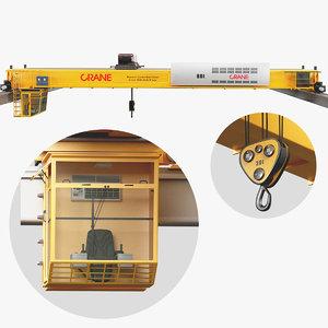 overhead crane cabin 3D model