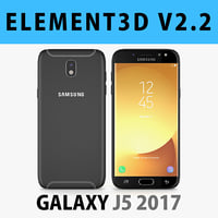 E3D - Samsung Galaxy J5 Official 2017 Black 3D model